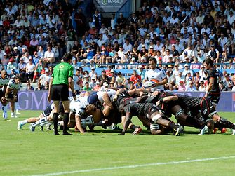 Rugby game: Agen versus Toulouse during the 2nd day of championship